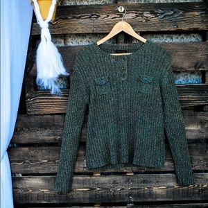 Ralph Lauren Green 3 Button Sweater Size L ( I3)